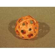 BAMBOO SLICE BALL ORANGE Ø 8 CM (SACHET DE 10)