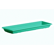 SOUCOUPE PRISCA TURQUOISE 50 X 21 , HT 4.2 CM