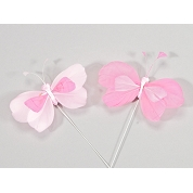 PAPILLONS ROSES 8CM X 48