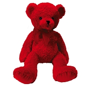 PELUCHE OURS ROUGE 25CM