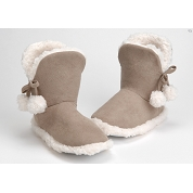 CHAUSSONS POMPONS 37-38 TAUPE
