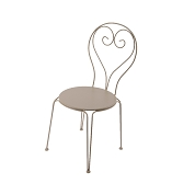 CHAISE METAL TAUPE 41 X 40