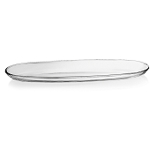 COUPE VERRE PLATE OVALE 9.5 X 30CM