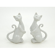 CHAT BLANC ASSIS 17CM