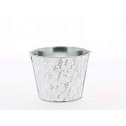 CACHE-POT METAL DESIGN FACETTE Ø11.5 HT 9CM