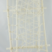 CADRE RATTAN RECTANGLE BLANC X 2