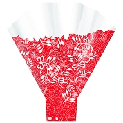 CONE A FLEURS COUTURE ROUGE 50 X 56 X 14 (X 50)