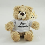 PELUCHE OURS BEIGE T-SHIRT BLANC