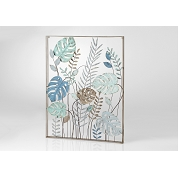 DECOR MURAL METAL JUNGLE ET FEUILLES