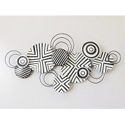 APPLIQUE MURALE METAL DESIGN 135 X 69