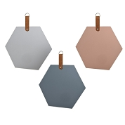 MIROIR METAL HEXAGONAL 33 X 33