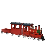 TRAIN METAL ROUGE 95CM
