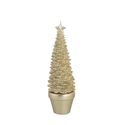 BOUGIE SAPIN OR HT 28.5CM