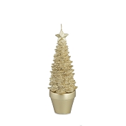 BOUGIE SAPIN OR HT 21CM