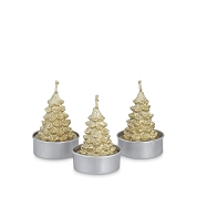 BOITE 6 BOUGIES SAPIN OR HT 5.5CM