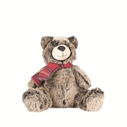 PELUCHE OURS CHINE ECHARPE ROUGE 20CM