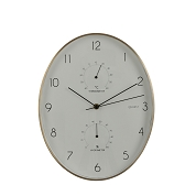 HORLOGE ANDY OVALE BLANCHE 27.5 X 35CM