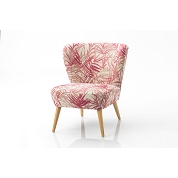 FAUTEUIL FEUILLAGE ROSE