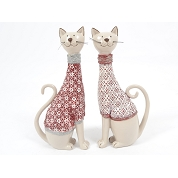 CHAT ASSIS ROUGE 28CM