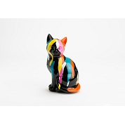 CHAT MULTICOLORE 26CM