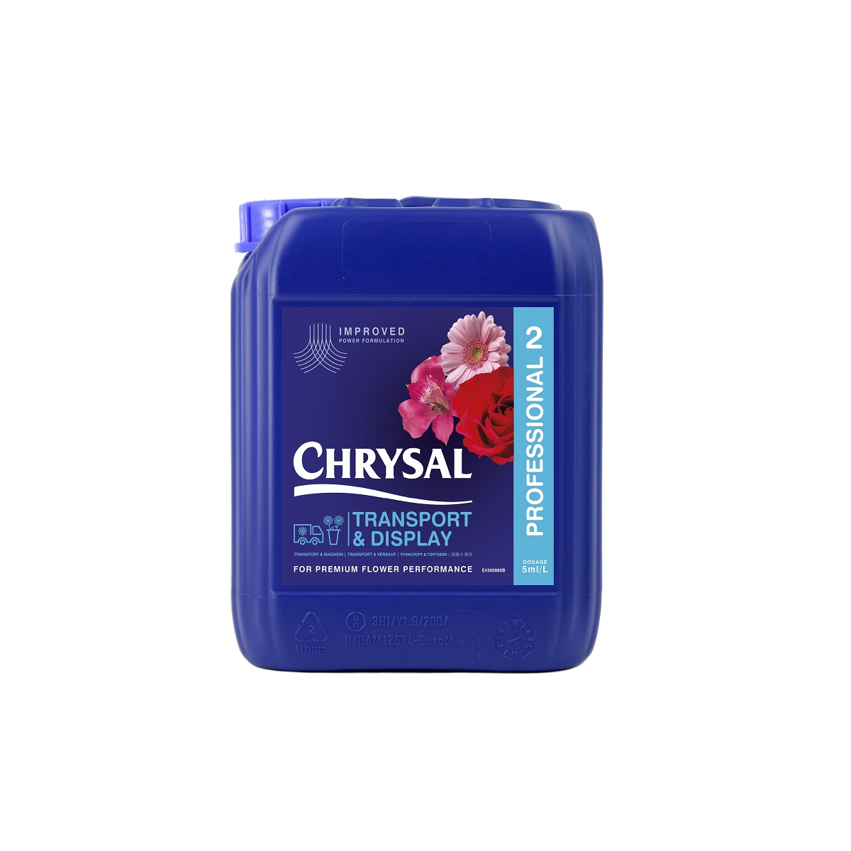 CHRYSAL CLEAR PROFESSIONAL 2 CONCENTRE  5 L